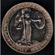 Medalje. 43. Livsforsikringsselskapet Hygea. Jakkenål.