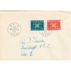 FDC Norge. Europa lll fellesutgave 1963 (6)