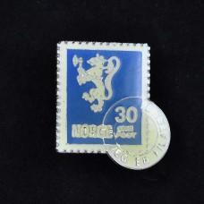 Medalje. 309. Frimerkepin. Løve