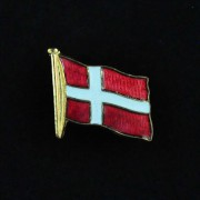 Medalje. 358. Jakkemerke. Danske Flagg