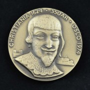 Medalje. 397. Christiania 1624
