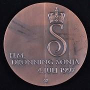 Medalje. 419. H.M. Dronning Sonja 4.7.97