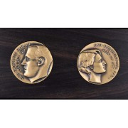 Medalje. 422. Kongprins Harald. Kongprinsesse Sonja