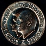 Medalje. 465. Kongeparets sølvbryllup 1993