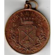 Medalje. 686. Erindring om Drammens 100 års jubileum 1911