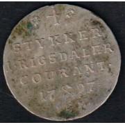 Mynter fra dansketiden. 1/5 specie 1797