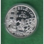 Belgia. Mynter. 20€ 1996. Kong Albert ll
